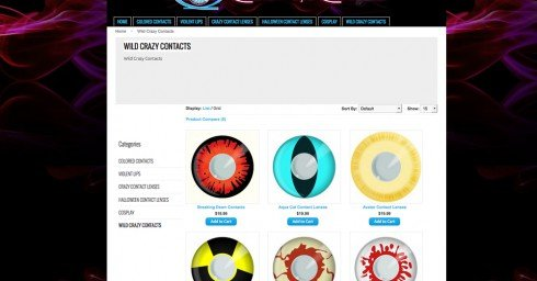 Custom Eye Contacts Halloween Contacts Designed by Yuppify