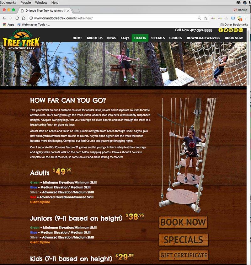 Altamonte Springs Website Design Orlando Graphic Design Orlando Tree Trek 1
