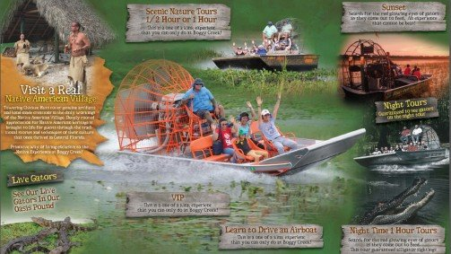 Boggy Creek Airboat Rides Orlando Florida Graphic Design Website design